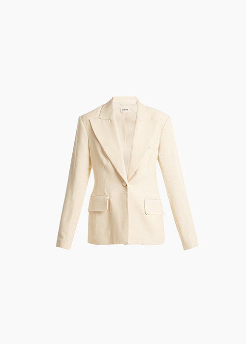 STRUCTURED LINEN JACKET